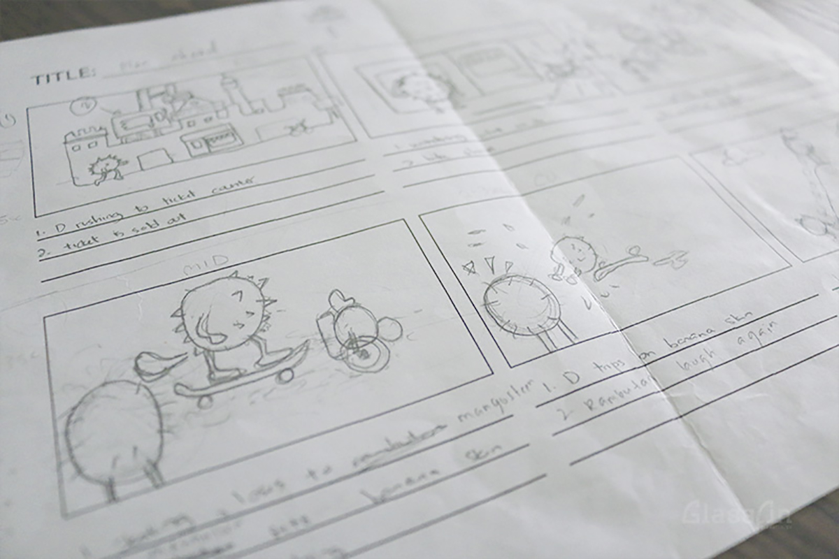 Here we start to extend the imagination into an animation spot.
