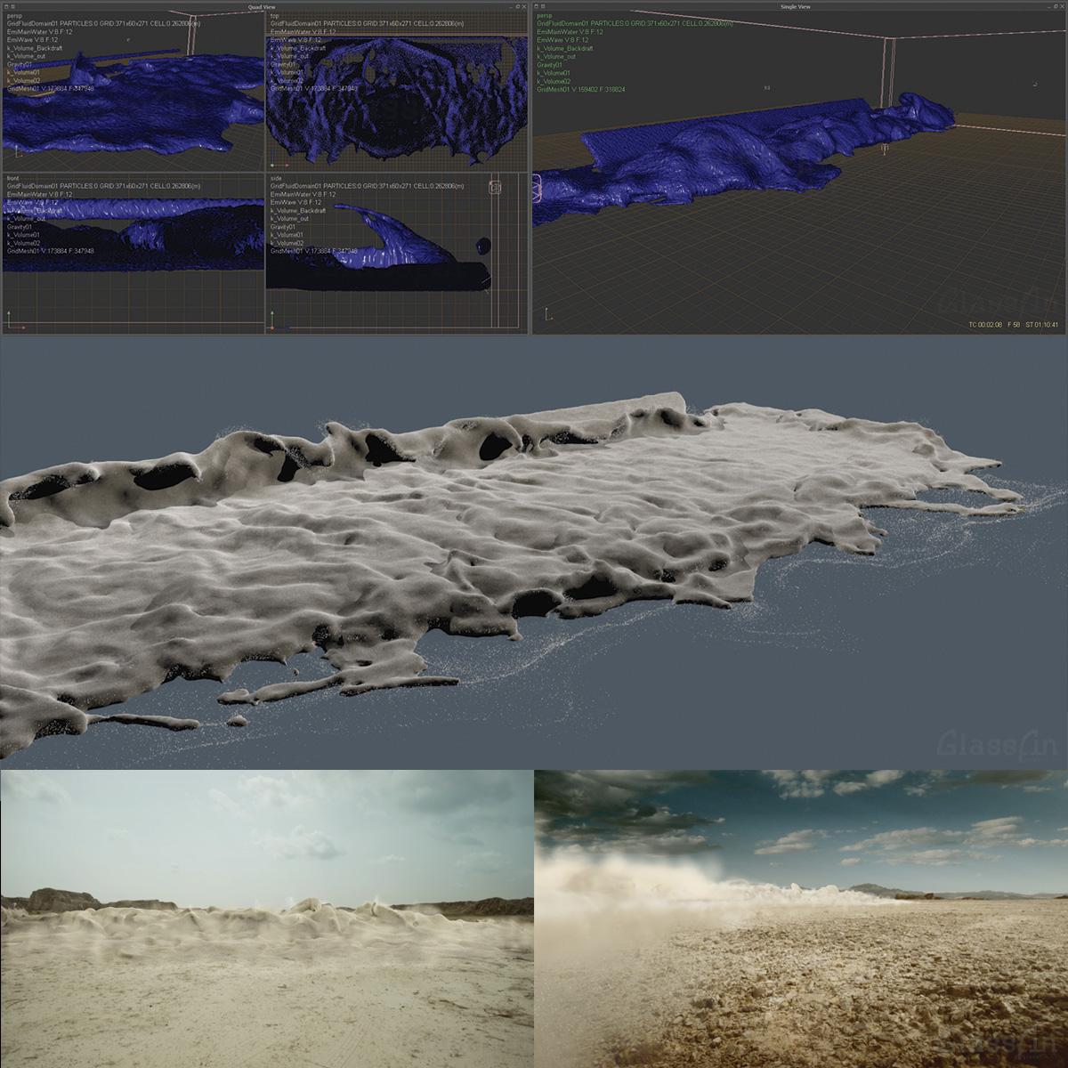Sand wave simulation