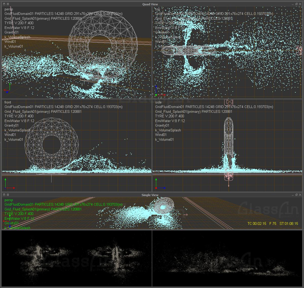 Dust particles simulation